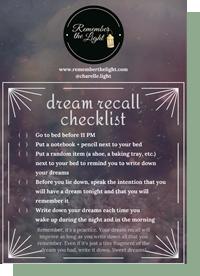dream recall checklist-thumbnail200